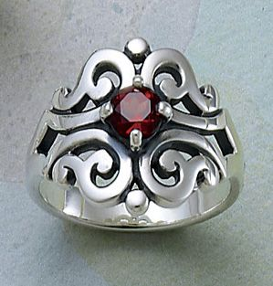Spanish Lace Ring with Garnet from James Avery Jewelry #jamesavery