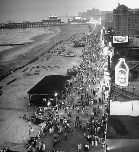 The Atlantic City boardwalk.
