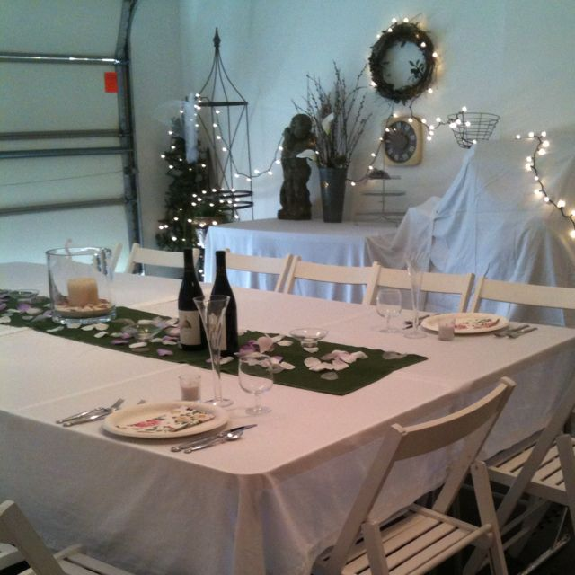 Turn Your Garage Into A Party Room For Bridal Or Baby
