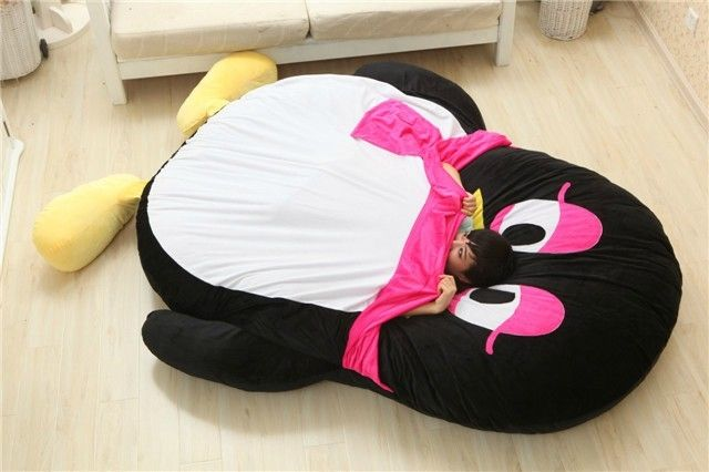Luxury Modern Cartoon Penguin Large Floor Cushion Dome Decor Pillow Big Outdoor Chair Cushions Pad Decoration Bed Mattress Kids
