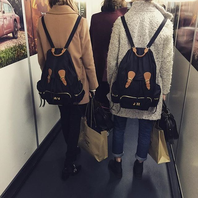 """Backpacks are my thing and this is """"totally cute.""""  Burberry monogrammed backpack."""