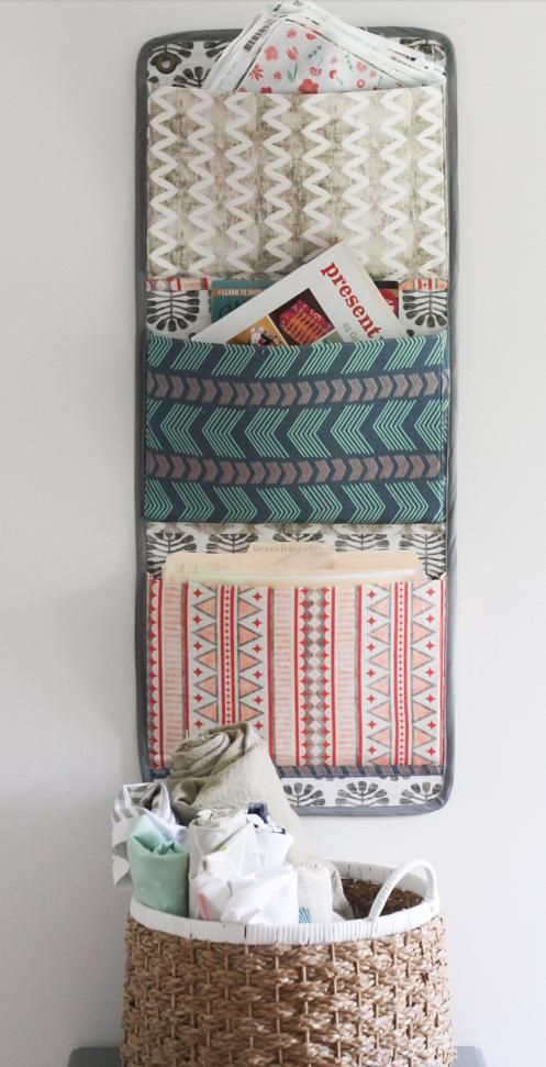 free tutorial fabric wall organizer - Fabric Wall Designs