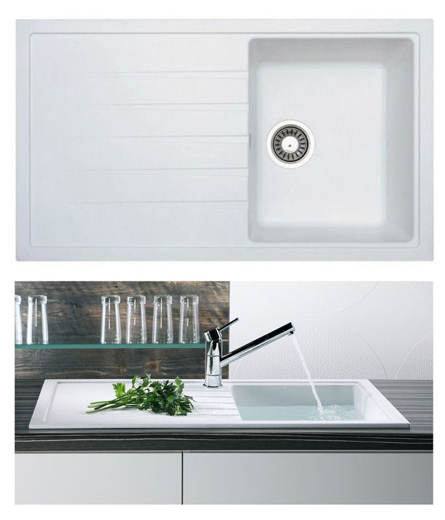 Compact Kitchen Sink Bluci piazza 10 compact kitchen sink in white granite bluci sinks bluci piazza 10 compact kitchen sink in white granite bluci sinks and taps pinterest white granite granite and sinks workwithnaturefo