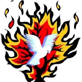 Charismatic Renewal Ministry logo with dove, Eternal Flame, and Tree of Life.