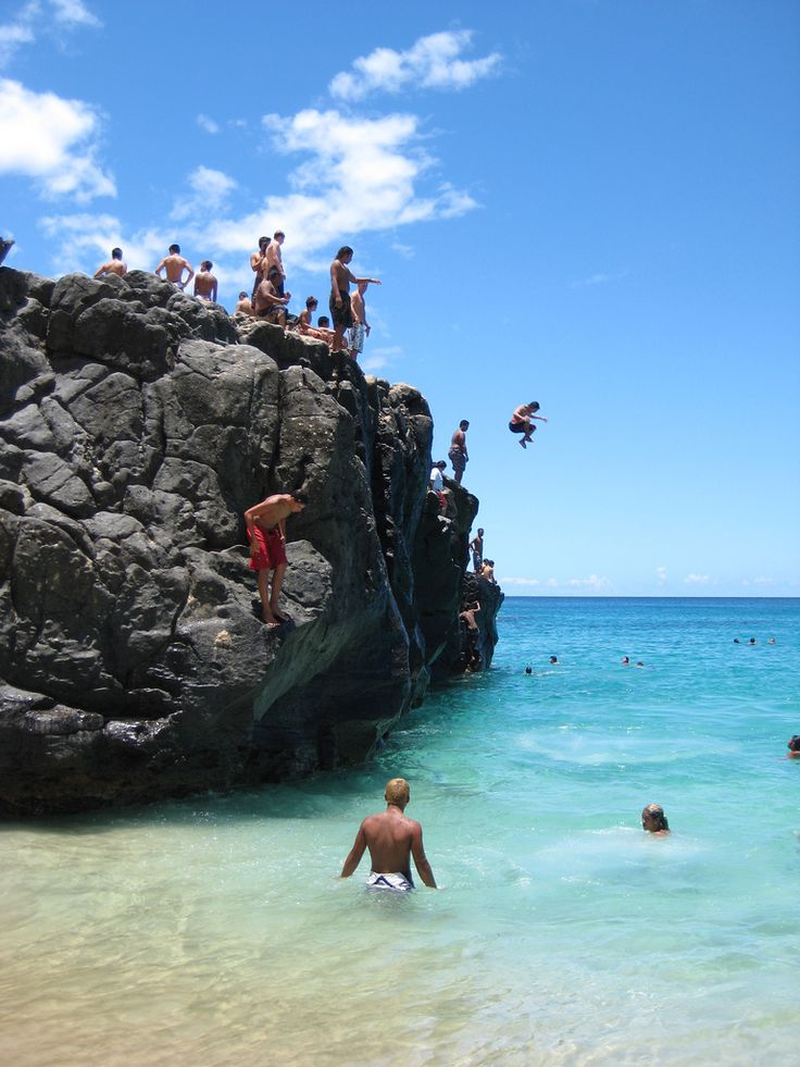 Waimea Bay, Ohau HI.  I jumped off this rock on Christmas Eve 2010, only thing is I don't have the pictures to prove it!  I guess that's a good reason to go back!