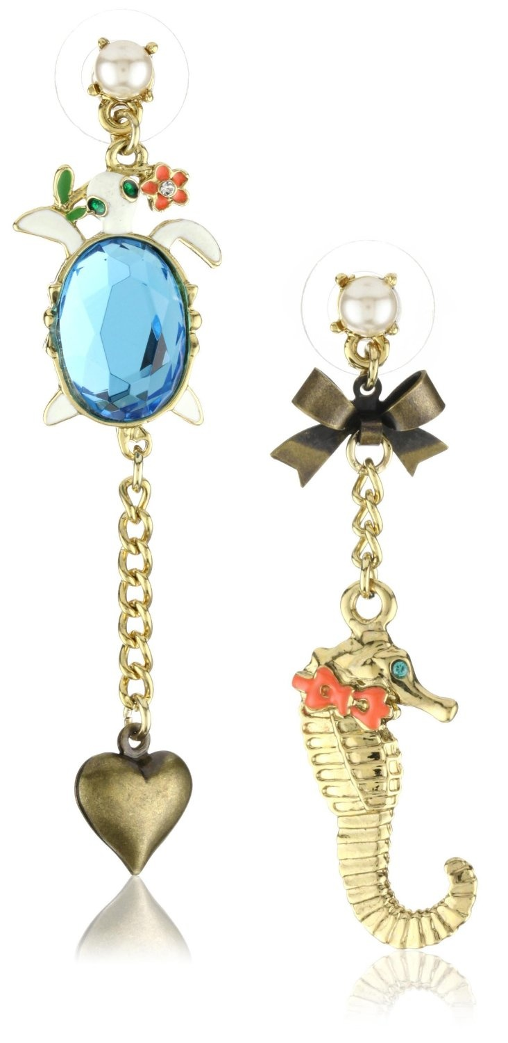 Betsy Johnson Mismatch Earrings! $40 #jewelry #fashion #fun