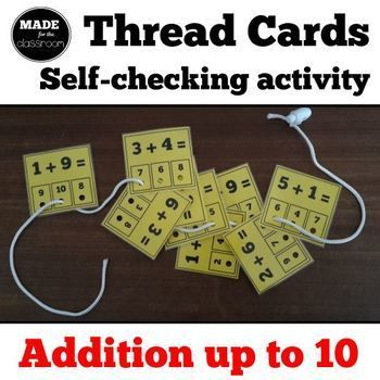 Want more cards, for addition up to 20? Buy this one instead... (No need to get both products! Thread cards for addition up to 20 How the game works * Print the PDF onto coloured card. * Mark the correct answer