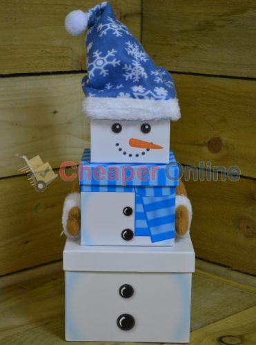 3-Piece-Stackable-Christmas-Snowman-Character-Gift-Box-Set