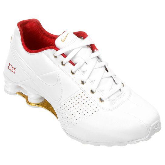 Tênis Nike Shox Deliver - Branco+Laranja
