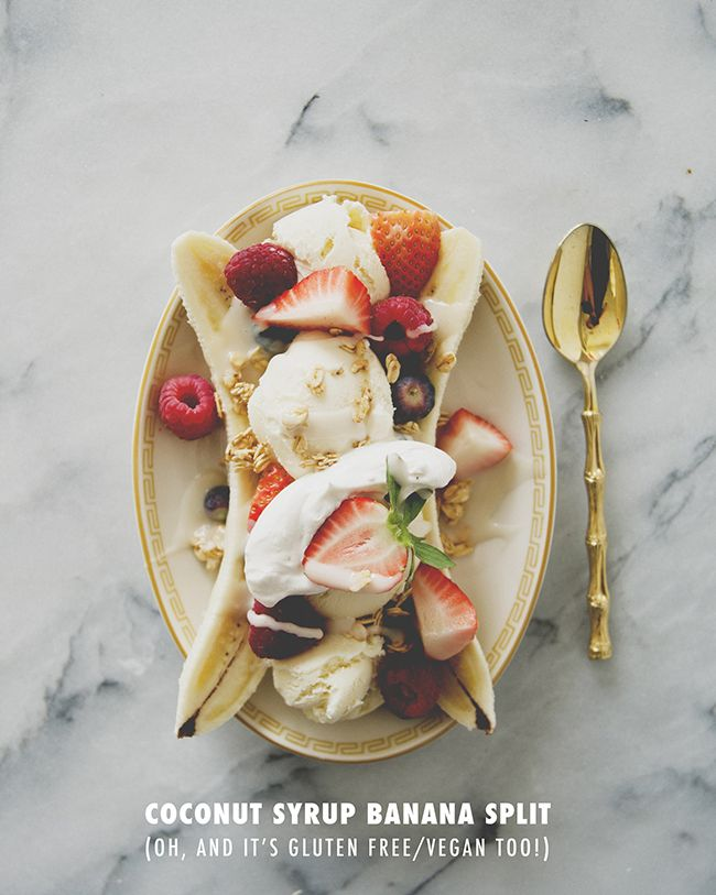 Coconut Syrup Banana Split - Vegan and Gluten Free (say what!) /