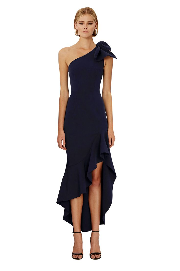 BY JOHNNY. Tie Shoulder Wave Gown | Pre-Order | Contemporary Australian Womenswear