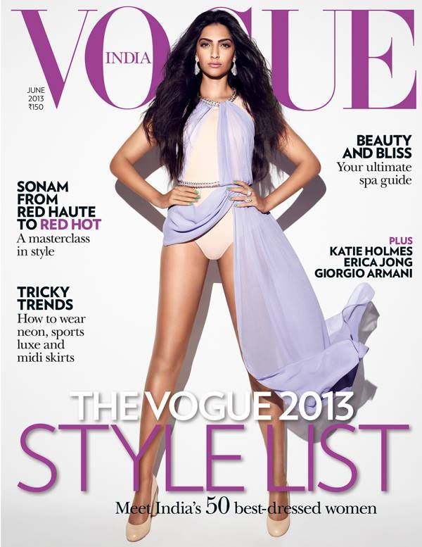Sonam Kapoor Hot Sexy Photoshoot for Vogue Magazine June Issue