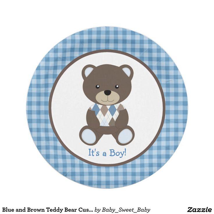 custom paper plates for baby shower