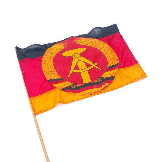East German Souvenir Flag Collectible Streamer by AilorsAttic