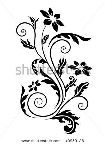 Swirl Floral Element Stock Vector 49930126 Shutterstock | tattoo