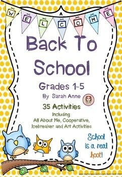 Back to School Bundle - 60 Pages of ice breaker, cooperative games, first day of school jitters and All About Me activities for Grades 1-5  Perfect for any class in the first week of school.  Take a look through the bundle and choose the activities that meet the needs of your student age and ability level.