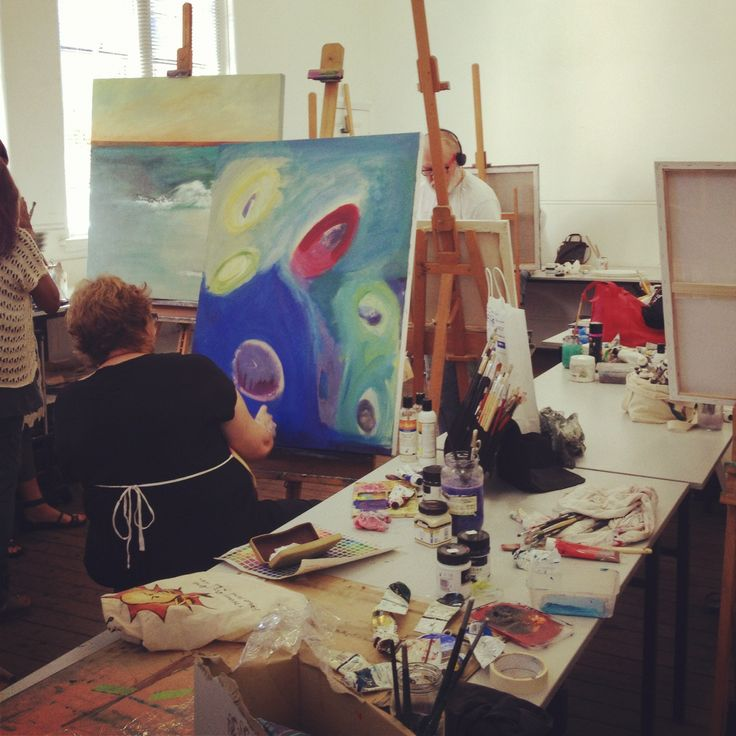 Inside the one of our painting studios