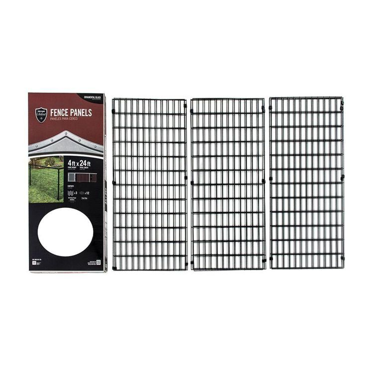 YARDGARD Select 4 ft. x 24 ft. Steel Fence Panel-328803A - The Home Depot