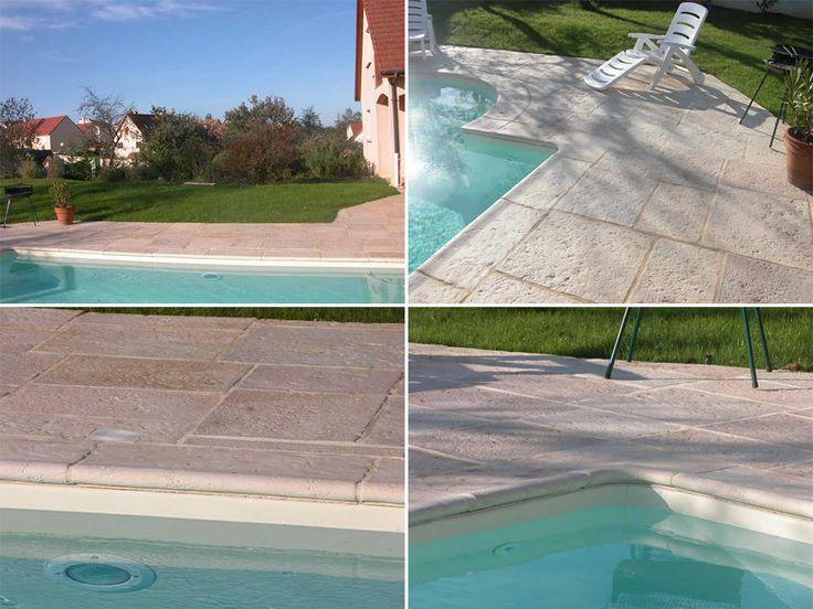 les 22 meilleures images du tableau margelle de piscine galb e pierre reconstitu e sur pinterest. Black Bedroom Furniture Sets. Home Design Ideas