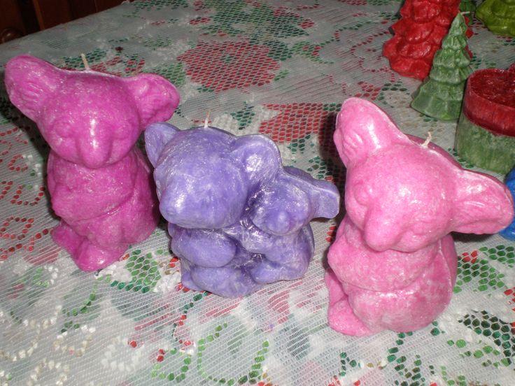 Koala and baby in lavender.
