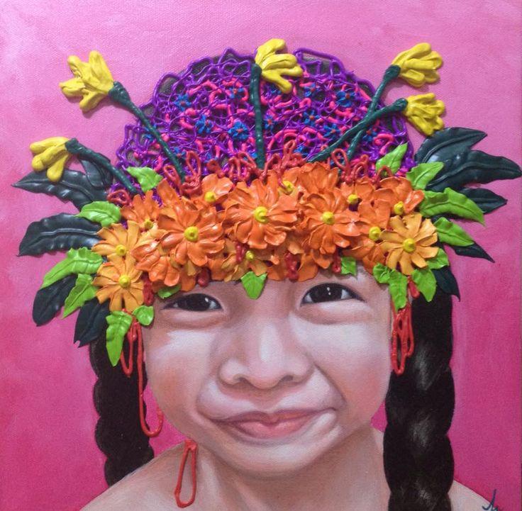 acrylic on canvas 30x30cm. painting by Seaksun.