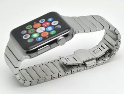 Armband Apple Watch 42 mm Stål via Shop2day.se. Click on the image to see more!