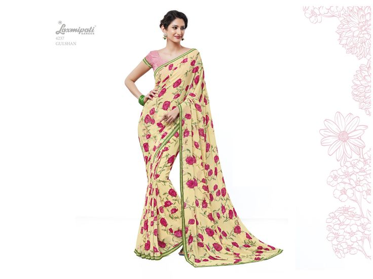 Looking for Yellow Georgette Printed Saree with Fancy Printed Pink Blouse? Get it at Rs. 1331.00 from www.laxmipati.com  #Catalogue #SURPREET #Sarees #ReadyToWear #OccasionWear #Ethnicwear #FestivalSarees #Fashion #Fashionista #Couture #LaxmipatiSaree #Autumn #Winter #Women #Her #She #Mystery #Lingerie #Black #Lifestyle #Life #ColoursOfIndia #HappyBride #WhoYouAre #WomanPower #EpicLove #SURPREET0916 #Festival #Paralympics #Paralympics2016…