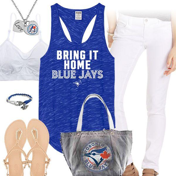 Toronto Blue Jays Tank Top Outfit - http://cutesportsfan.com/toronto-white-and-blue-jays/