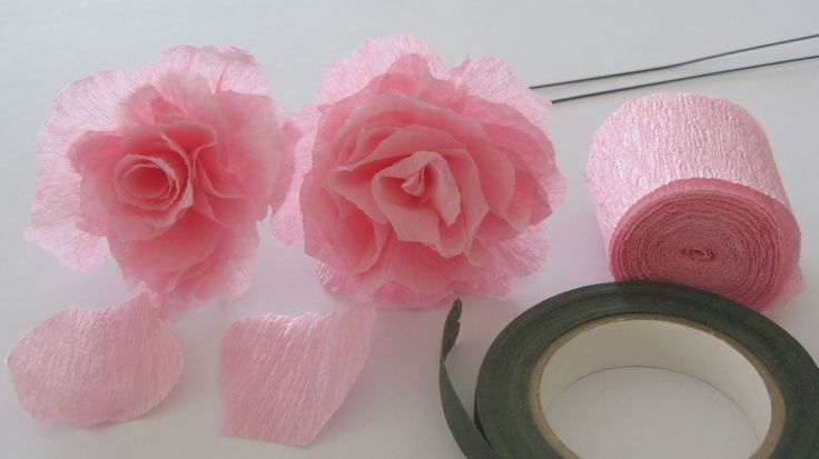 How to Make a Crepe Paper Rose with a roll of crepe paper. I love making paper roses. How to make a coffee filter rose video http://youtu.be/ADfgn0QNKRU Supp...