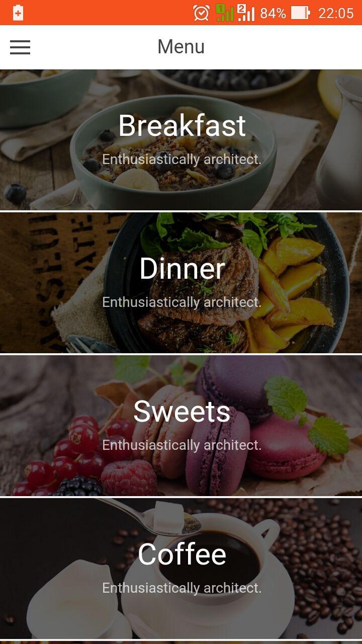 Hoss - Ionic Restaurant App - Ionic Marketplace