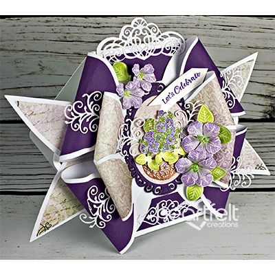 Petunia Bow Card w/ Classic Petunia collection from Heartfelt Creations.