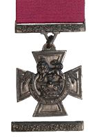 This is an image of a Victoria Cross from World War II. This source is credible as it was awarded to several heroes at this time. This tells us about the changing lives of Canadians because 182 Victoria Crosses were awarded during the war, showing the strength and bravery of many Canadian soldiers. Even though Canadian soldiers were experiencing hardships, this showed that they were motivated to fight for their country and Allies.