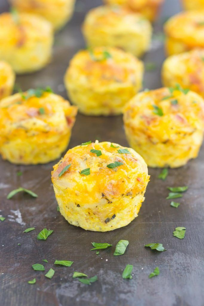 Filled with eggs, cheddar cheese, bacon, and hash browns, these Cheesy Egg and Hash Brown Cups are pop-able, and delicious for a quick breakfast on-the-go!