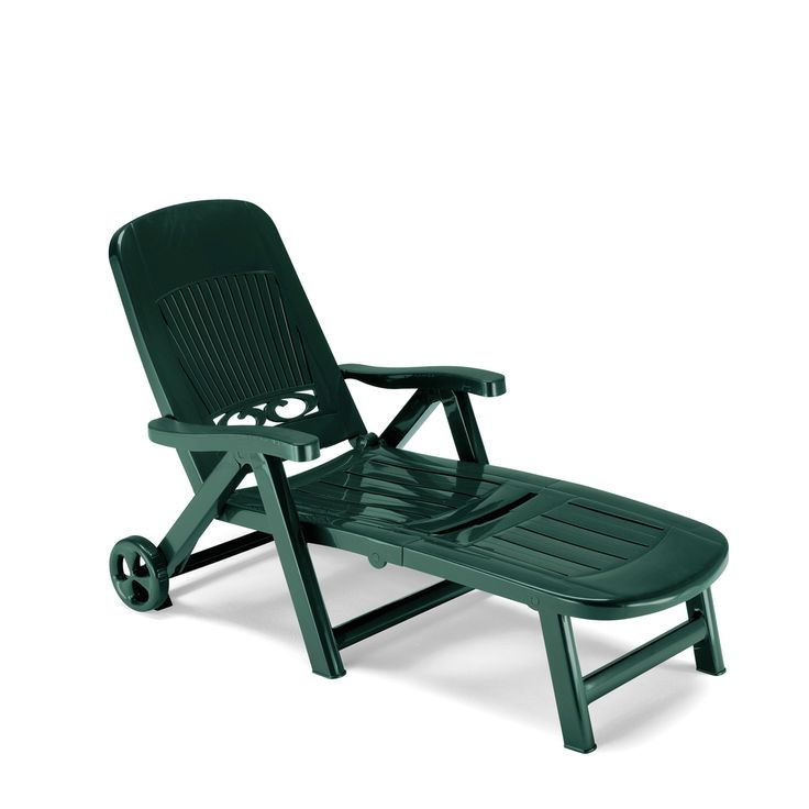 Italian plastic sun bed in forest green, anthracite grey and white col at My Italian Living Ltd