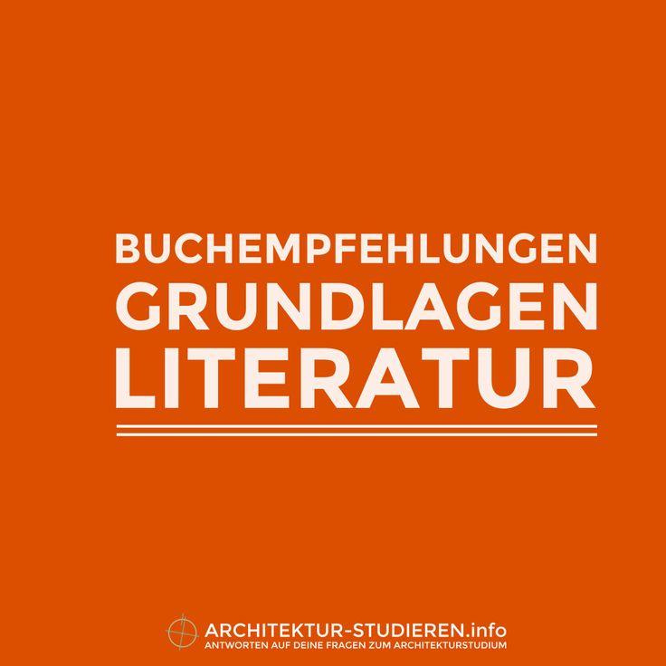 Buchempfehlungen: Grundlagen für dein Architekturstudium   © Architektur-studieren.info