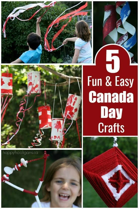 5 Fun and Easy Canada Day Crafts for Kids ages 2-10. - Happy Hooligans