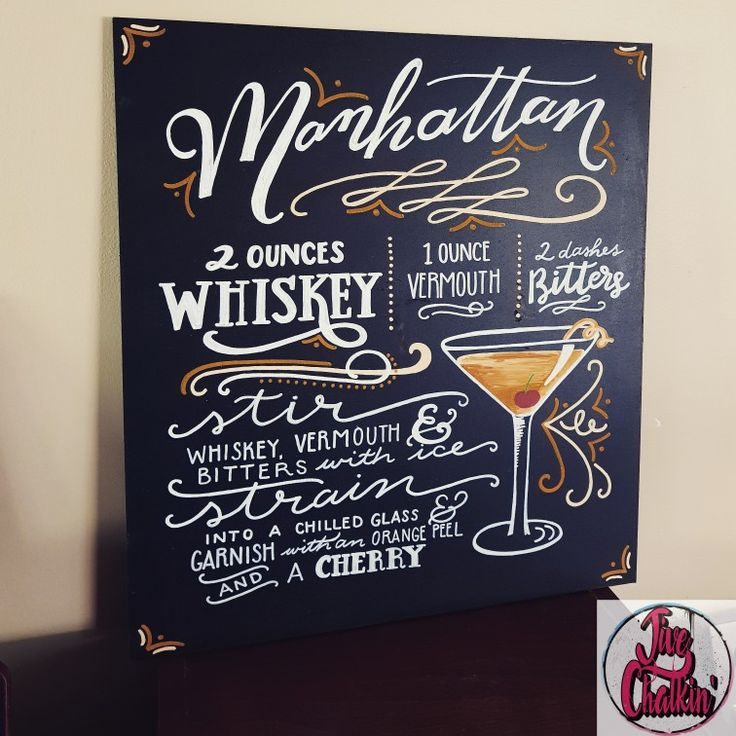 A classic looking cocktail sign for a twenties themed engagement party.