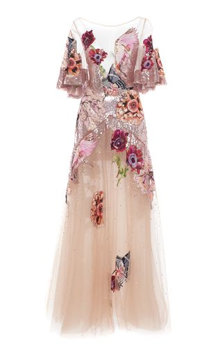 9d3ede52e5a Shop Petal Sequined Embroidered Tulle Gown. Temperley London s  Petal  gown  is utterly feminine