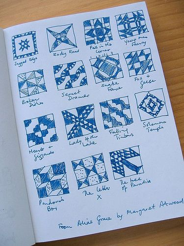 """""""Alias Grace"""" by Margaret Atwood - Chapter/Quilt pattern"""