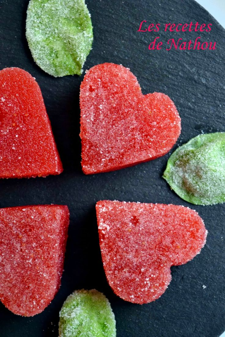 Les recettes de Nathou: Pâte de fruit à la fraise et basilic cristallisé