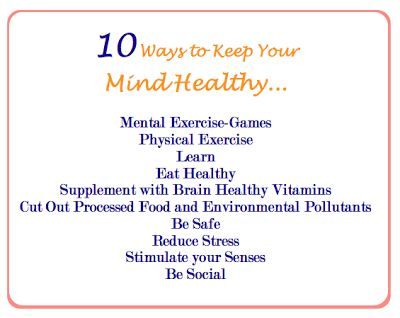 10 Ways to Keep Your Mind Healthy | Health | Pinterest