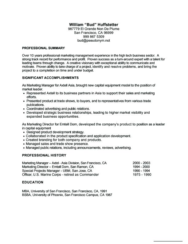 Resume Examples Wwwsamples Resume\/2010\/08\/resume   When  When To Use A Functional Resume