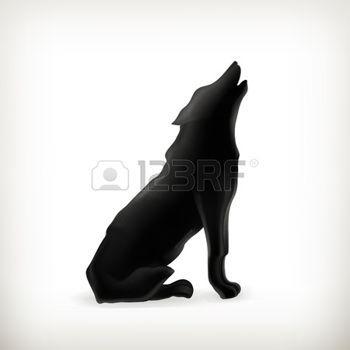 le loup: Silhouette de loup Illustration