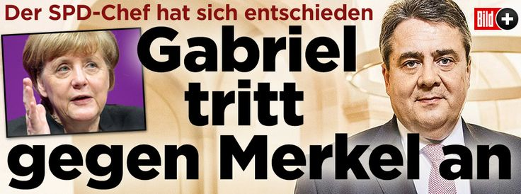 Gabriel tritt gegen Merkel an