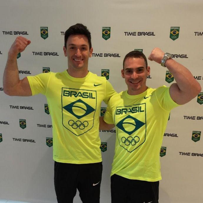 Sem passar por saguão, Arthur Zanetti e Diego Hypolito chegam ao Rio #globoesporte