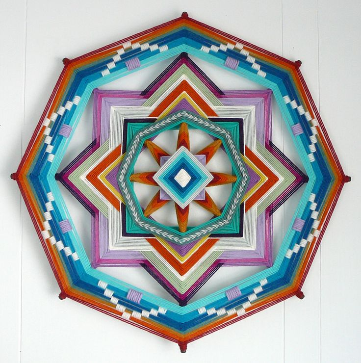 Peaceful Mind, 18 inches, 8-sided all wool ojo de dios, by custom order by JaysMandalas on Etsy https://www.etsy.com/uk/listing/81003565/peaceful-mind-18-inches-8-sided-all-wool