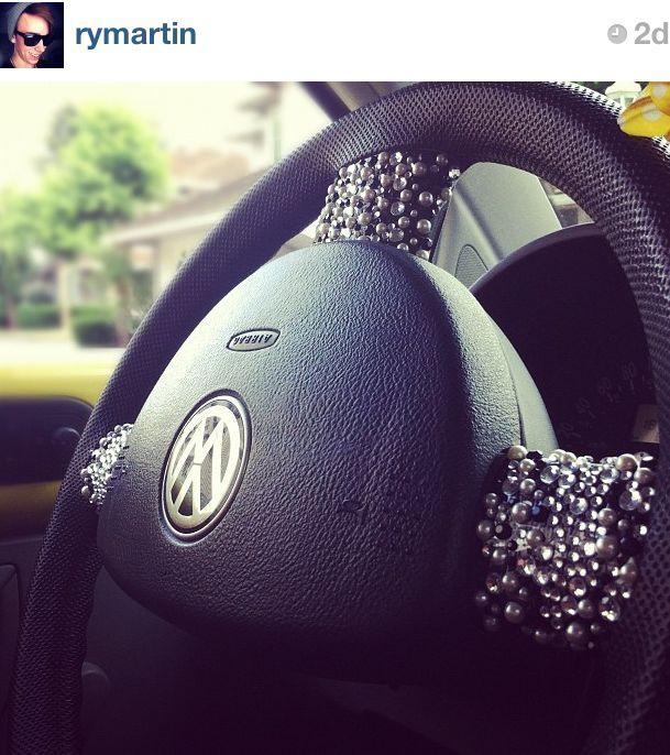 bedazzled steering wheel