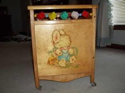 VINTAGE WHITNEY BROTHERS CO. WOOD DOLL BED CRIB (06/28/2012)