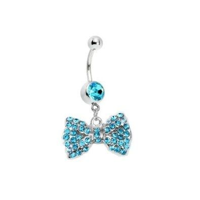 Piercing nombril nœud papillon en strass sur Wish.com ♥