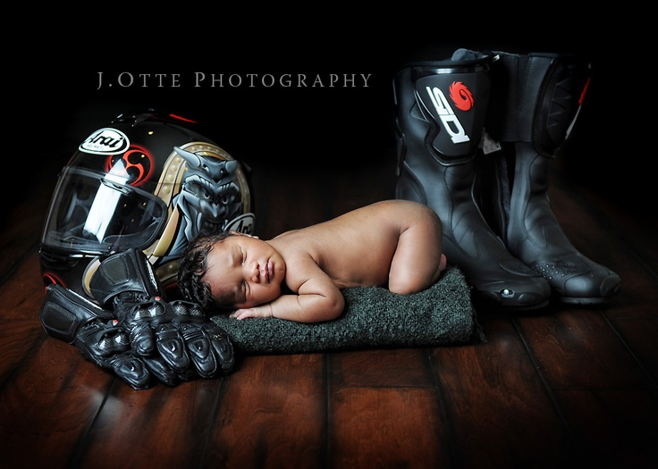 Jodie Otte Photography. Baby with motocross gear